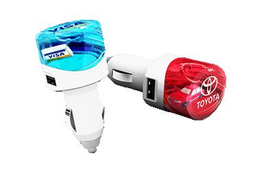 Aqua USB Car Charger