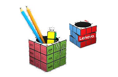 Portapenne-calendario Rubik