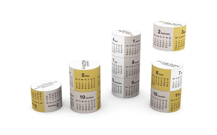 Magnetic 360 Round Calendar - Hilton