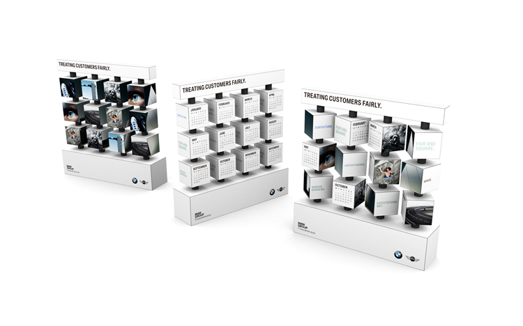 Revolving Stand Calendar - BMW