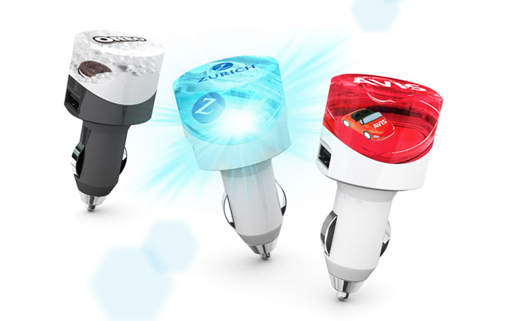 Aqua USB Car Charger
