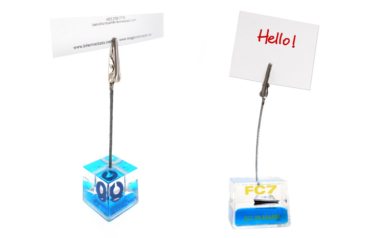Aqua memo clip