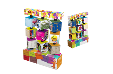 3×4 Revolving Calendar Cube