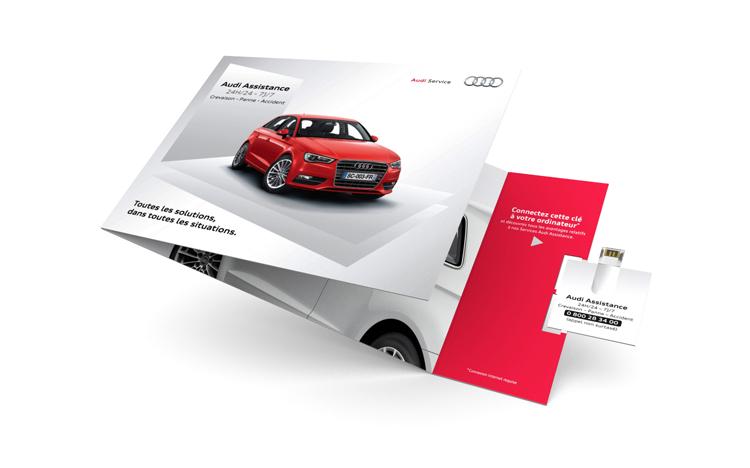 2-Panel Mailer Paper Webkey - Audi