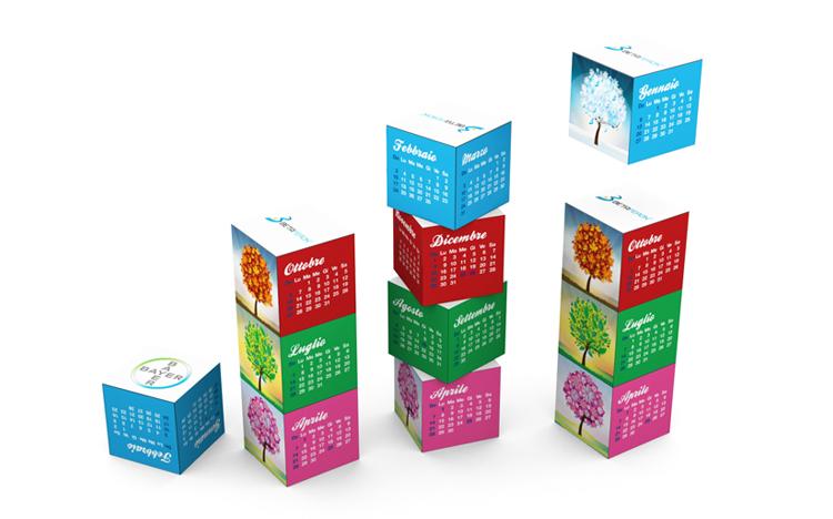 Magnetic Cube Calendar - Betaferon, Bayer