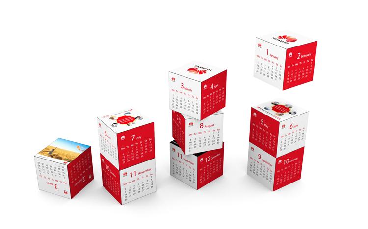 Magnetic Cube Calendar - Huawei