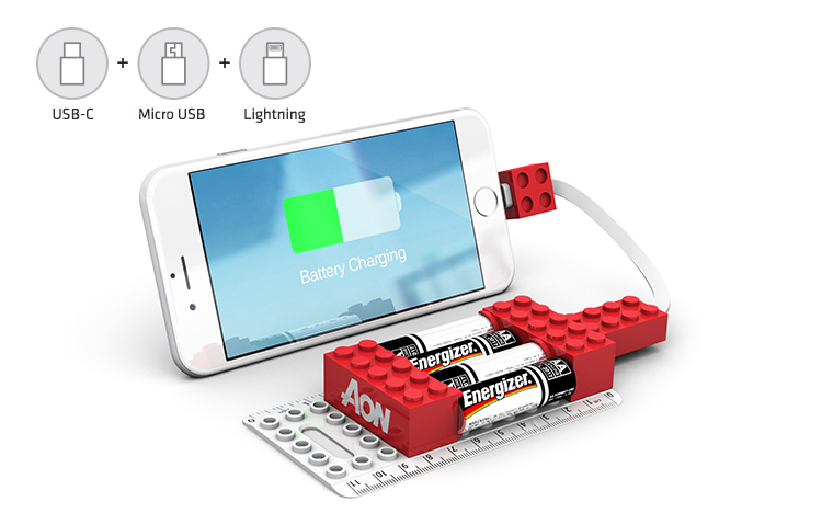 Caricabatterie tascabile di emergenza